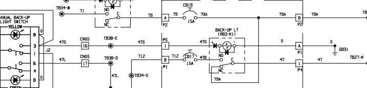 XS4319-0 OCT 06 ELECTRICAL SCHEMATIC RETARD LIGHTS, BACKUP LIGHTS & BACKUP HORNS 930E-4 A30462 &