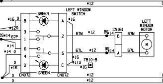 XS4321-0 OCT 06 ELECTRICAL SCHEMATIC RADIO AND WINDOW CONTROLS 930E-4 A30462 & UP Sheet 21