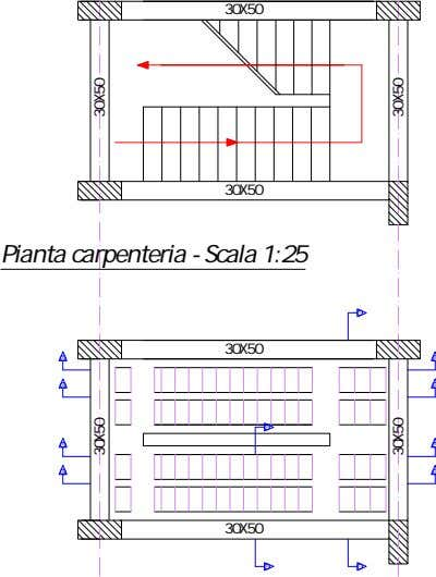 Pianta carpenteria - Scala 1:25