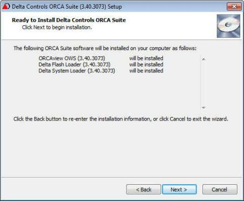 must be corrected before you can begin. 7. Ready to Install a. This dialog box shows
