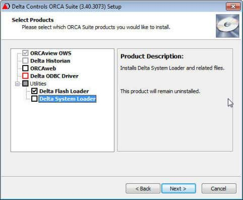 "existing product(s)"". b. Click Next. 6. Select Products a. Select the products for installation and uncheck"