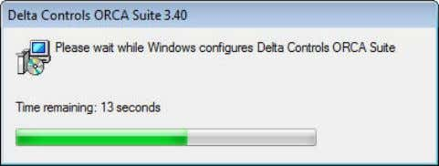 indicates the progress as Windows configures the ORCA Suite. 10. Setup Complete a. Click Finish to