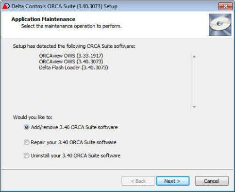 the Add/remove 3.40 ORCA Suite software option is selected. Total Pages in this Section: 2. Click