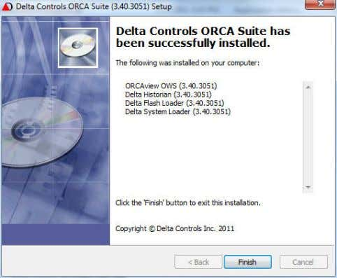 1–38 Introduction 8 ORCA Suite a. Click Finish. b. Inspect the install list of ORCA software.