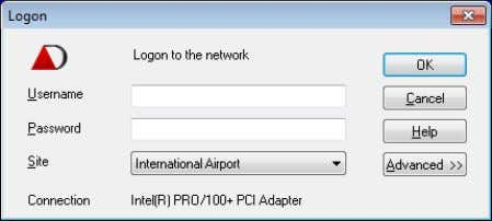 Double click on the icon to start ORCAview. Logon Dialog Box The Logon dialog contains the