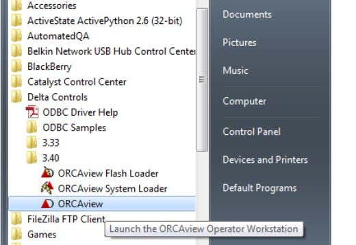Starting ORCAview 2–3 Click the ORCAview program. ORCAview then displays the Logon dialog box. See Logon