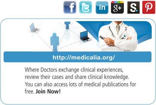 http://medicalia.org/ Where Doctors exchange clinical experiences, review their cases and share clinical knowledge. You can also