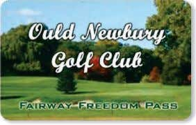cost. Visit our website at www.ouldnewbury.com for details.   2014 Membership Levels Full: Golf any�me on