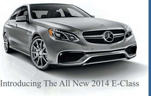 Introducing The All New 2014 E-Class