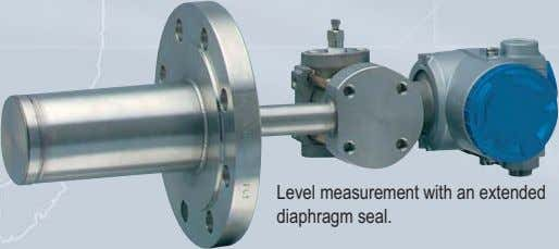 Level measurement with an extended diaphragm seal.