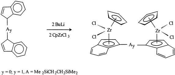 / Coordination Chemistry Re iews 181 (1999) 243–296 Fig. 12. Synthesis of binuclear zirconocenes form bridged