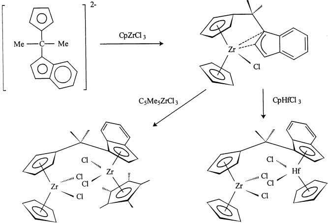 the metal center and ligand environments can differ [41]. Fig. 14. Synthesis of binuclear complexes from