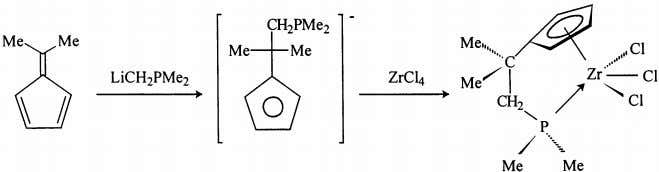 despite their sterically unconstrained active site. Fig. 16. Mono(cyclopentadienyl) zirconium complex from