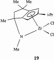 complex 20 [53] are representatives of these procatalysts. 7. Non-cyclopentadienyl ligands The nature of the X
