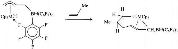/ Coordination Chemistry Re iews 181 (1999) 243–296 Fig. 17. Propylene reaction with a zirconocene zwitterion.