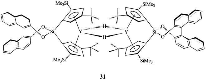 but insertion of a second monomer into the Y– n -pentyl bond ( 32b ) occurred