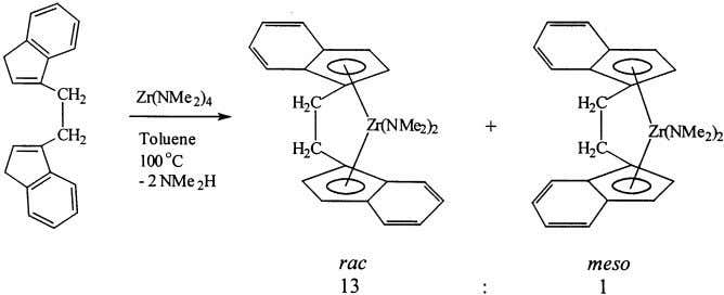 2 Si(2-MeInd) 2 ZrCl 2 from magnesium dianion. Fig. 6. Synthesis of Et(Ind) 2 Zr(NMe 2