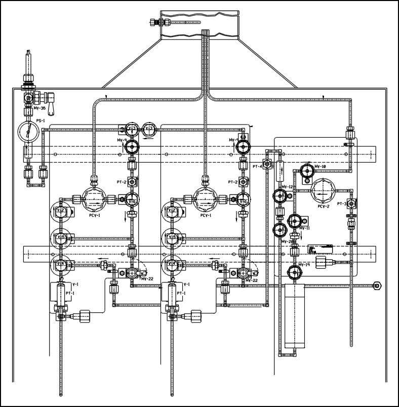 See Figure 2-3 below for a typical gas cabinet panel layout. Figure 2-3: Typical Gasguard 450