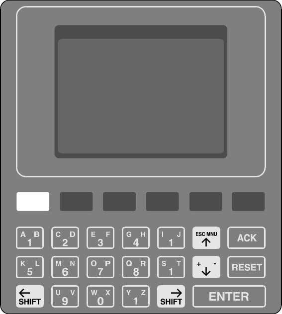 how to use the keypad. Figure 2-7, below, shows the keypad. Figure 2-7: Gasguard Controller Keypad