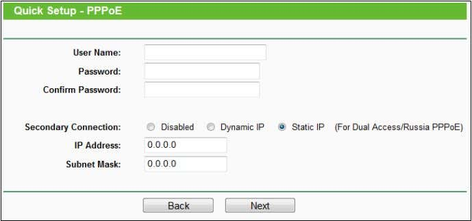 as Dynamic/Static IP to connect to a local area network. d) If the connection type detected