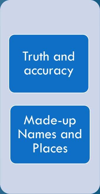 Made-up Names and Truth and accuracy Places