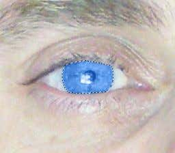 be using Blue . You use what ever suits your eye colour. So for Blue, press