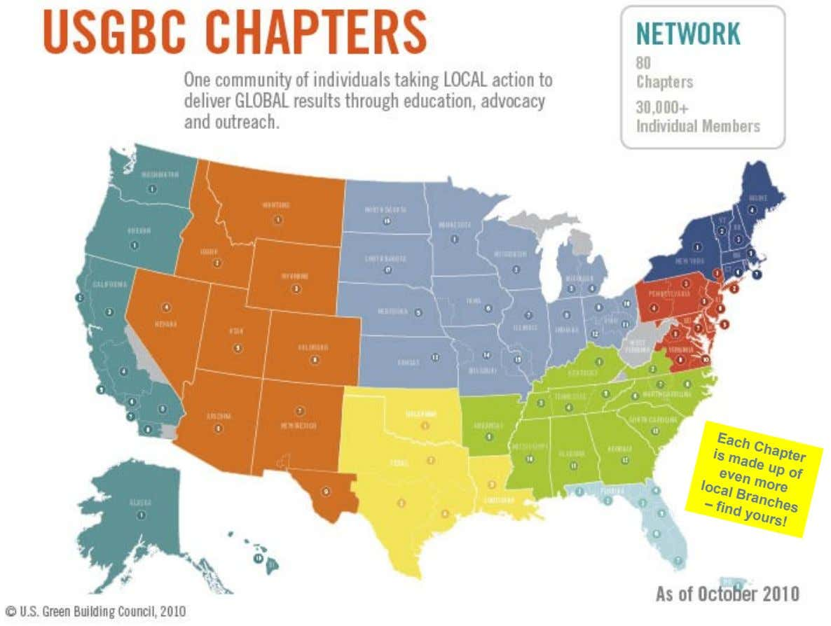 Each Chapter made up of is – even more local Branches find yours!