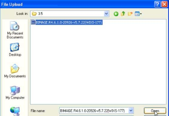 "Fi gure 7 – Gemtek CPE Upgrade File 3) Click on the ""Upload"" bu tton."