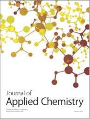 Journal of Applied Chemistry Hindawi Publishing Corporation http://www.hindawi.com Volume 2014