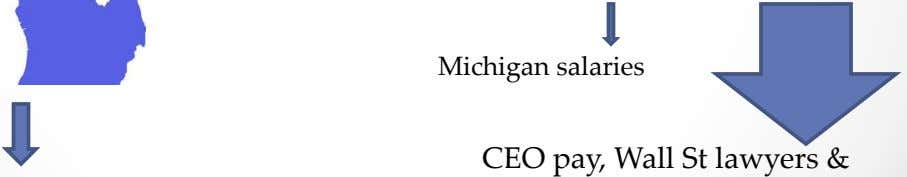 Michigan salaries CEO pay, Wall St lawyers &
