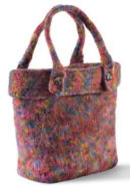 #154 Vermont Felted Bag designed by Kathy Elkins Inspired by a cute leather bag WEBS owner