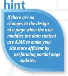 If there are no changes to the design of a page when the user modi
