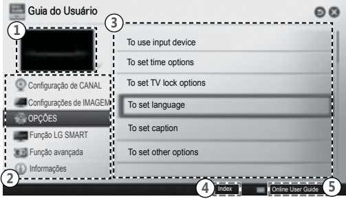 Guia do Usuário 3 1 To use input device To set time options To set