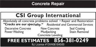 "CSI Group International Absolutely all concrete problems solved • Repair and Restoration ""Cracks are our"