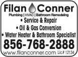 • Service &Repair • Oil &Gas Conversion • Water Heater &BathroomSpecialist 856-768-2888