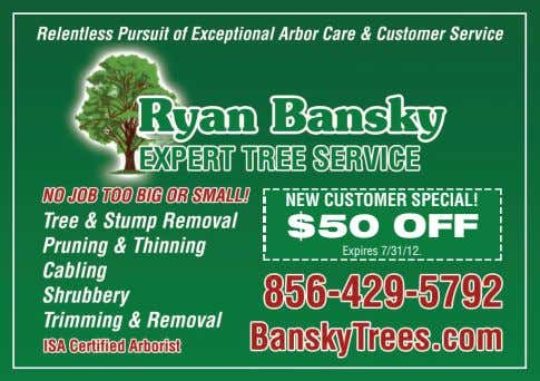 NEW CUSTOMER SPECIAL! $50 OFF Expires 7/31/12.