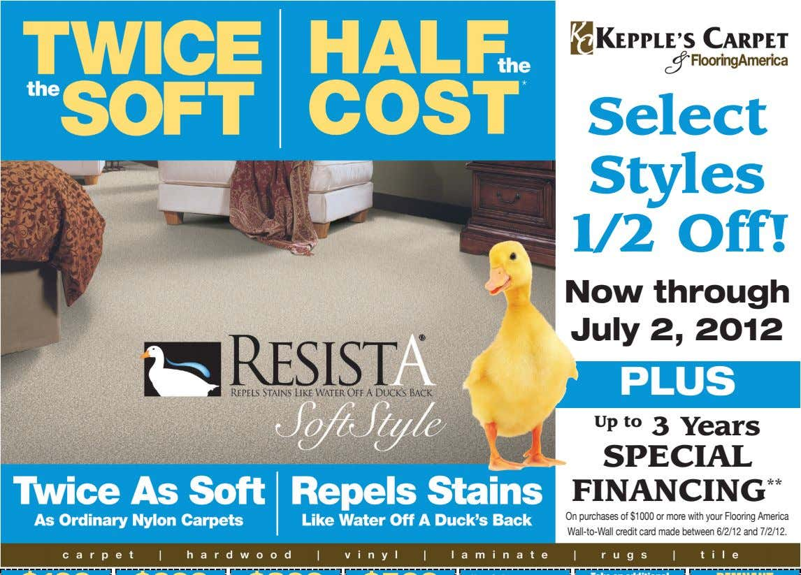 Select Styles 1/2 Off! Now through July 2, 2012 PLUS Up to 3 Years SPECIAL