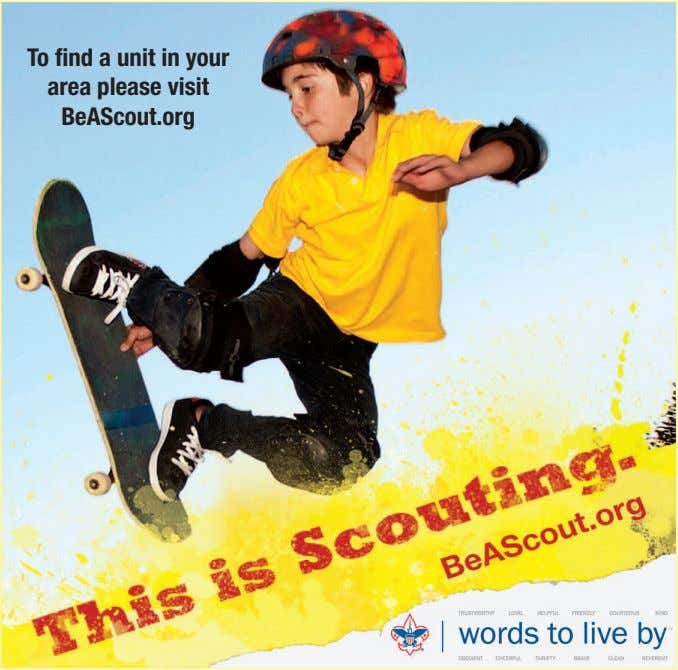 To find a unit in your area please visit BeAScout.org