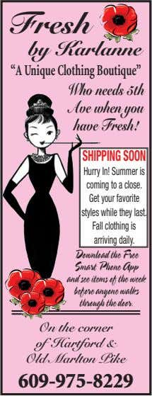"""A Unique Clothing Boutique"" SHIPPINGSOON Hurry In! Summer is coming to a close. Get your"