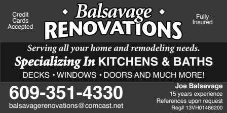 Serving all your home and remodeling needs. Specializing In