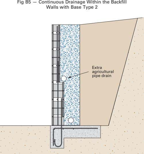 Fig B5 — Continuous Drainage Within the Backfill Walls with Base Type 2 Extra agricultural