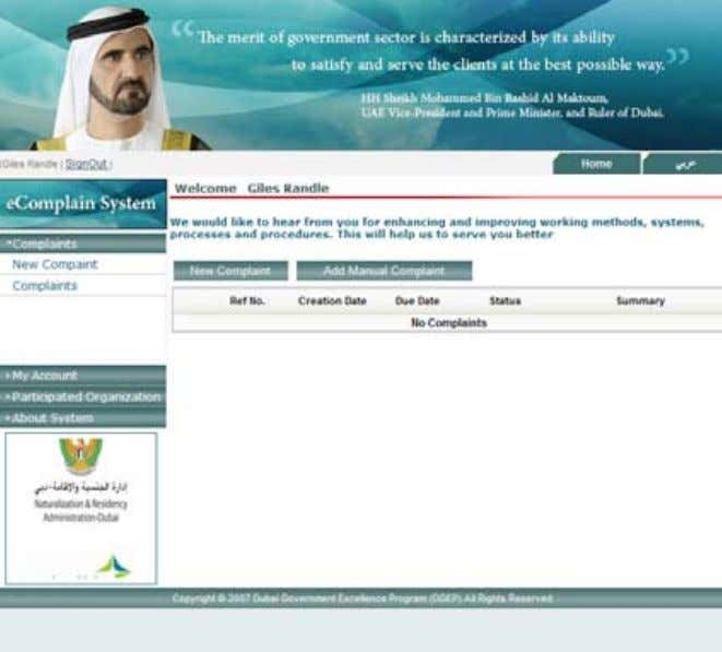 Highlights • The Dubai government views customer feedback as a valuable strategic asset that enables
