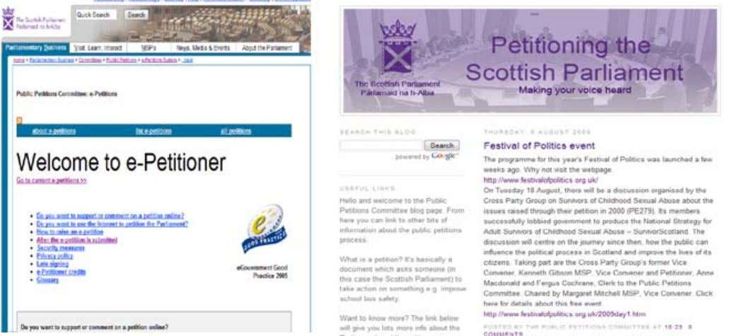 Highlights From a very early stage, the Scottish Parliament has partnered with citizens in creating