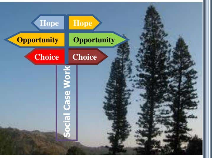 Hope Hope Opportunity Opportunity Choice Choice Social Case Work
