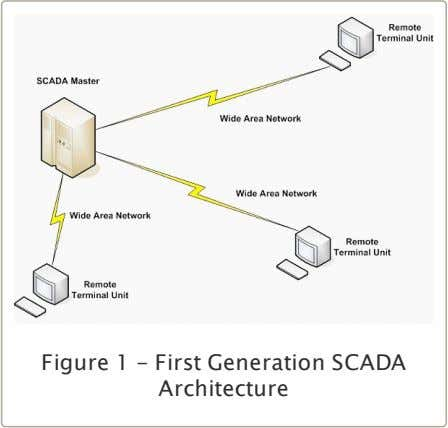 Figure 1 - First Generation SCADA Architecture