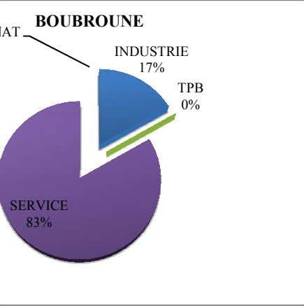 BOUBROUNE AT INDUSTRIE 17% TPB 0% SERVICE 83%