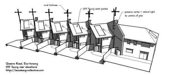 Image used during pre-application discussion 2. Amount of development Each 2 storey unit has a