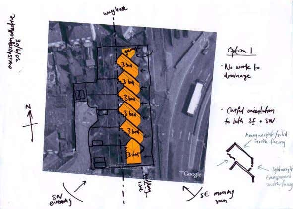 3 + 4. Indicative layout + Scale The 'chevron' planning of the layout is a