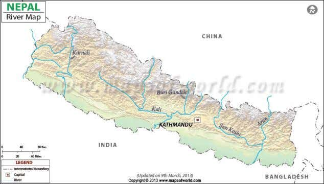 River 2. The Naryani River(India's Gandhak River) 3. The Karnali River ARCHITECTURE IN NEPAL Monday, March