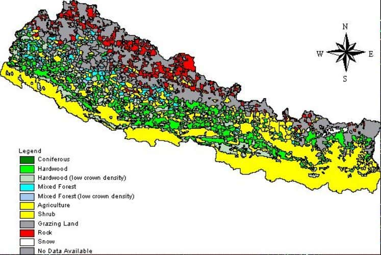 land area is covered with forest which is around 37,383 sq. km. ARCHITECTURE IN NEPAL Monday,